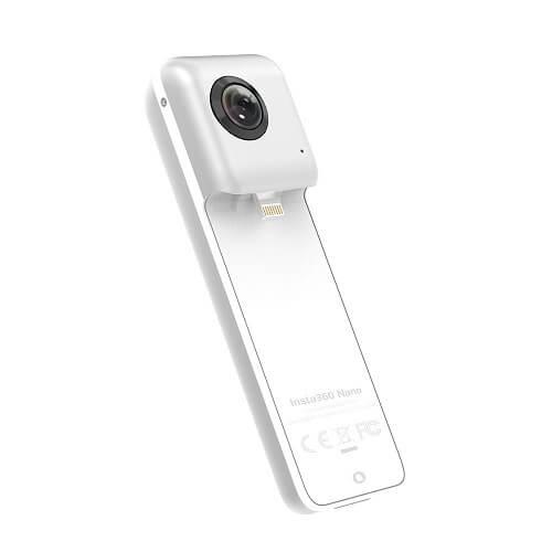 Insta360Nano Compact Mini Panoramic 3K HD Video 210Degree Dual Wide Angle Panoramic Macro Fisheye Lens For Headset Goggle